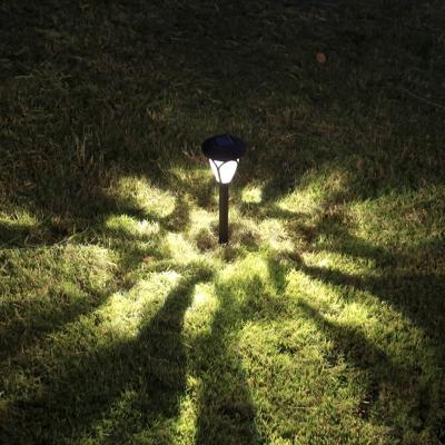 ... Set Of 2 Light Sensor Solar Powered LED Garden Path Light In Grey Finish