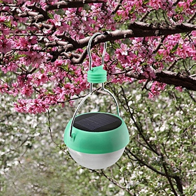Solar Powered Mint Finish 4'' Wide Small Decorative Portable LED Outdoor Tree Lighting