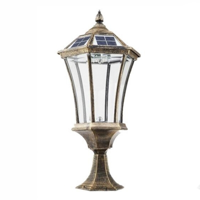 Antique Bronze 21 H Vintage Solar Led Light Outdoor