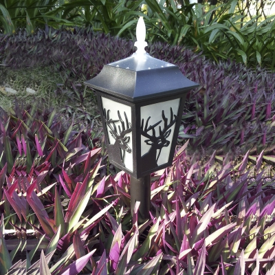 Rustic Style 22'' H Solar Powered Dusk to Dawn 3 LEDs Pathway Garden Stake