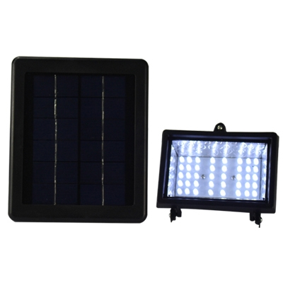 Solar Powered Super Bright Yellow Warm Light 40 LED Exterior Patio Flood Light