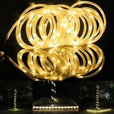 Warm White 50 LEDs 23ft Solar Powered Decorative Paito Tree Rope Light