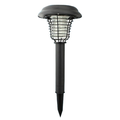 2 Pack Light Sensor LED Solar Powered Path Light in Black Finish with Wire Guard