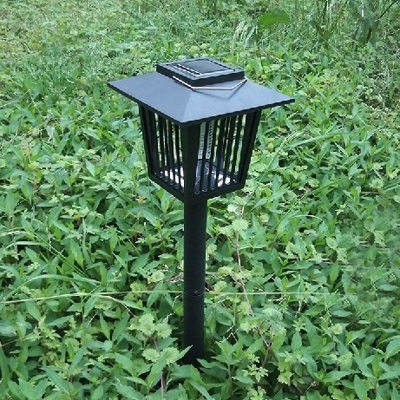 Solar Powered 23'' H Bug Killer 3 LED Outdoor Pathway Lighting with Lattice