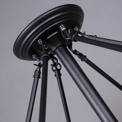 Metal Hemp Rope LED Floor Lamp in Matte Black Finish