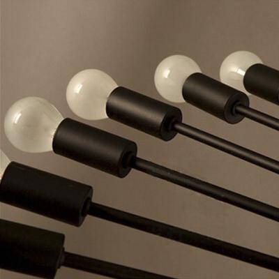 Black Industrial Style 26 Light 26 Tier LED Chandelier