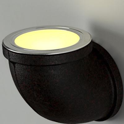 Medium Pipe Imitation LOFT Wrought Iron LED Wall Sconce in Rust