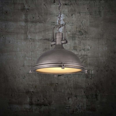 Fashion style silver pendant lights industrial lighting antique silver 18 wide single light bowl shape led pendant in nautical style aloadofball Gallery