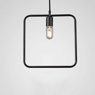 13 Width Industrial 1 Bulb Square LED Pendant Lighting