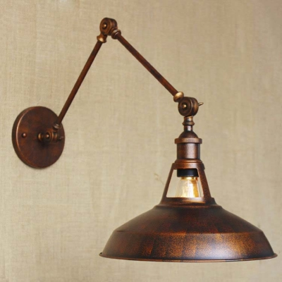 Industrial 1 Light Adjustable LED Wall Sconce In Antique Copper Finish ...