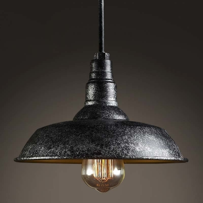 Fashion style outdoor lighting pendant lights industrial lighting mottled black single light barn style industrial indoor led pendant lamp mozeypictures Images