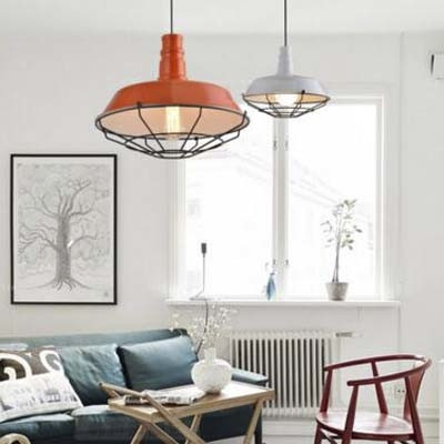 Pure White 10'' Wide 1 Light Industrial LED Pendant with Metal Cage