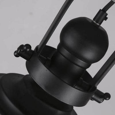 Chic 12'' W Industrial 1 Light LED Pendant in Matte Black Finish