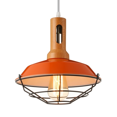 Industrial 1 light cage led pendant indoor lighting with wood accent industrial 1 light cage led pendant indoor lighting with wood accent aloadofball Choice Image