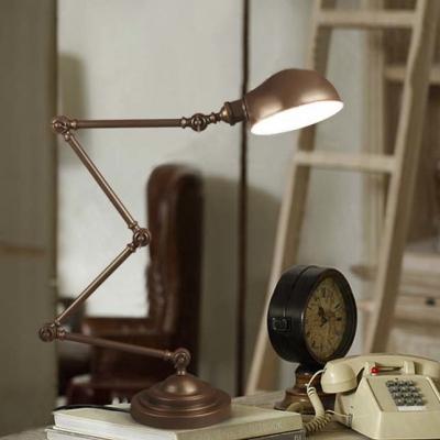 Oil Rubbed Bronze 1 Light Adjustable LED Desk Lamp Task Lighting Fixture