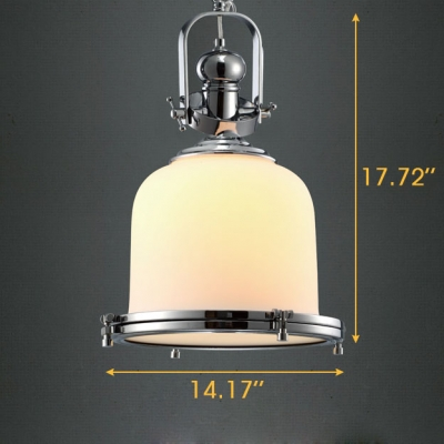 Opal white glassware chrome plated frame 1 light led pendant opal white glassware chrome plated frame 1 light led pendant lighting fixture chrome aloadofball Image collections