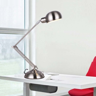 Polished Nickel 1 LED Light Chic Desk Reading Lamp for Kids