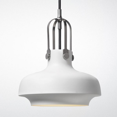 Modern Pure White Small Single Light Hanging Indoor LED Pendant