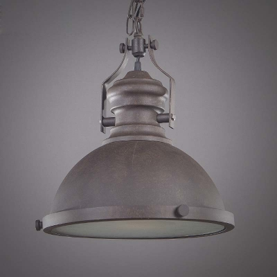 Single Retro Style Small LED Pendant Lighting in Bowl Shape