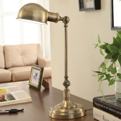 Polished Nickel 1 Light LED Desk Lamp in Industrial Style