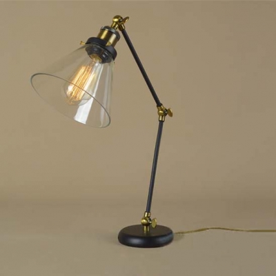 Bon ... Adorable Single Light LED Table Lamp With Glass Shade In Industrial  Style