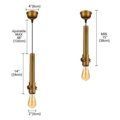 Gold Finished 14'' H Single Light Small LED Pendant Light