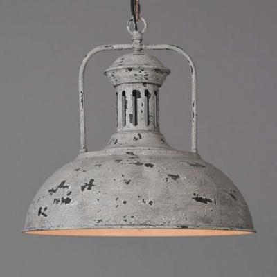 Mottled Grey Finished 1 Light Down Lighting Bowl Shape LED Pendant Lamp