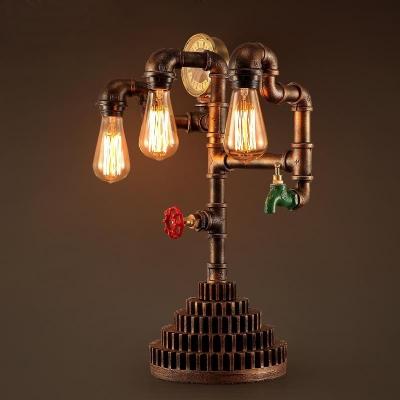 Design With Gear Light Led Table Lamp Three Pipe zGqUMLVSp
