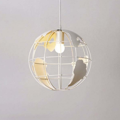 White Finished 12'' Wide Single Light Modern Globe LED Pendant Light