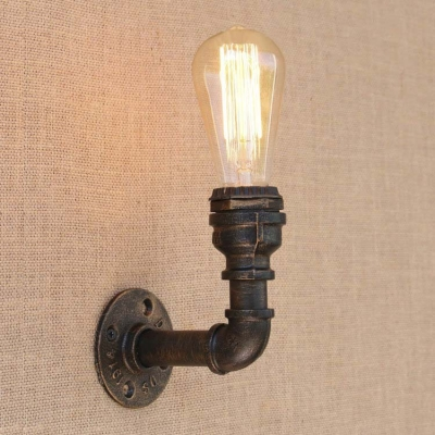Mini Pipe LED Wall Lighting in Old Bronze Finish