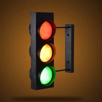Unique Traffic Light Design 6 Light Industrial Style LED Wall Light