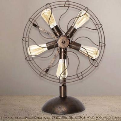 ... Antique Copper Five Light Fan Shaped Table Lamp Accent Table Lamp ...