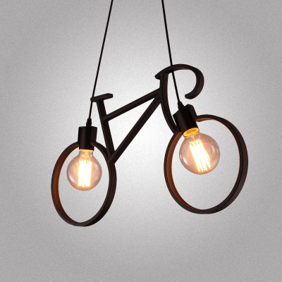 pendant lighting industrial style. 24u0027u0027 w industrial style wrought iron bicycle shape living room indoor pendant lighting with