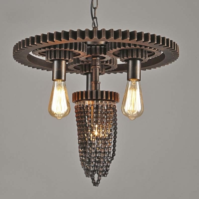 Vintage Four Light Indoor Led Pendant Lighting With Hanging Chain Design