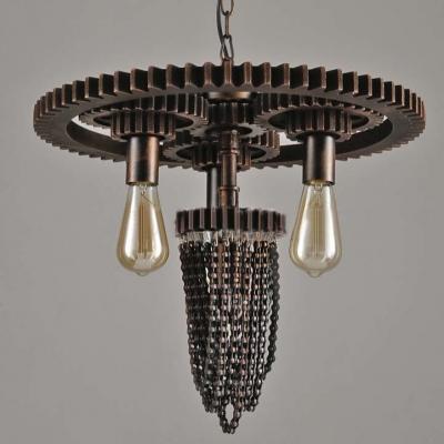 Vintage Industrial Four Light Indoor Pendant Lighting With