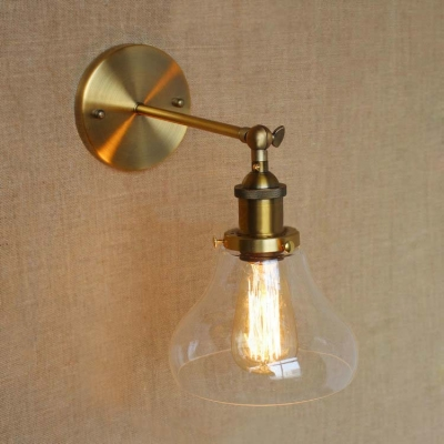 Wall Sconces With Clear Glass : Sconce Wall Light with Clear Glass Bowl Shade - Beautifulhalo.com