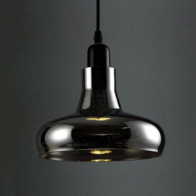Dark Grey Industry LOFT Glass Pendant