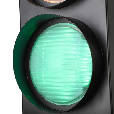 Remote Control 3 Light Traffic Light 18'' H 5W Energy-Saving LED Wall Lighting in Black Finish