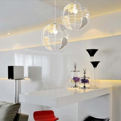 White Finished 12 Wide Single Light Modern Globe Led Pendant