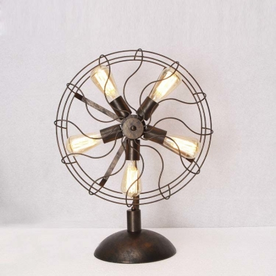 Antique copper five light fan shaped led table lamp accent table antique copper five light fan shaped led table lamp accent table lamp mozeypictures Image collections