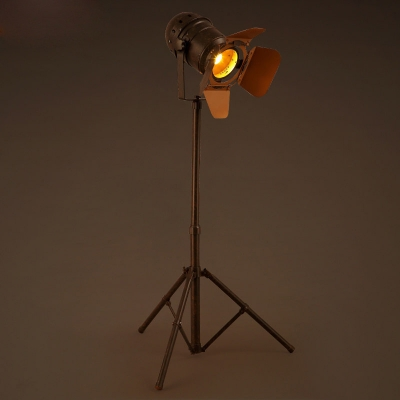 old rust single light h industrial spotlight floor lamp - Spotlight Floor Lamp