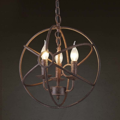 Fashion style copper chandeliers industrial lighting weathered copper 3 light industrial indoor 14 wide globe led chandelier aloadofball Gallery