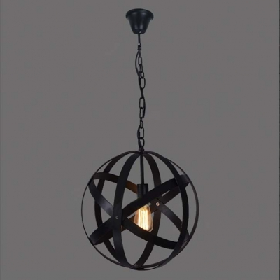 Retro style 1 light wrought iron 16 wide globe led pendant in retro style 1 light wrought iron 16 wide globe led pendant in black mozeypictures Image collections