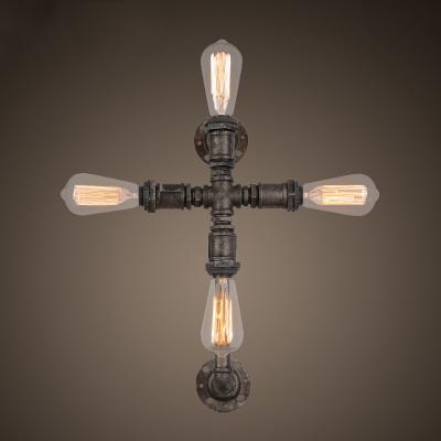 Baycheer / 24'' H Cross Shape 4 Light LED Wall Sconce