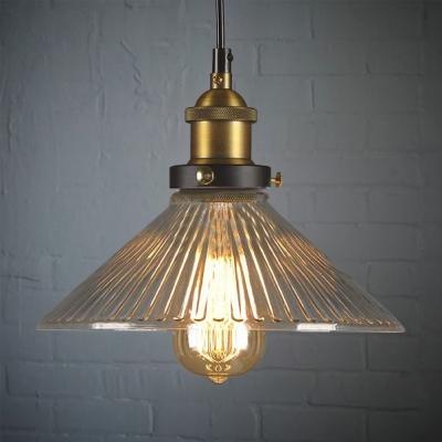 10 Wide Single Light Ribbed Gl Mini Indoor Led Pendant Lighting