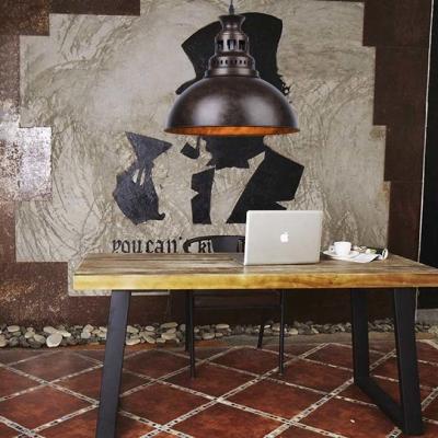 Nautical Style 1 Light Metal Bowl Shade LED Pendant Indoor Lighting Fixture