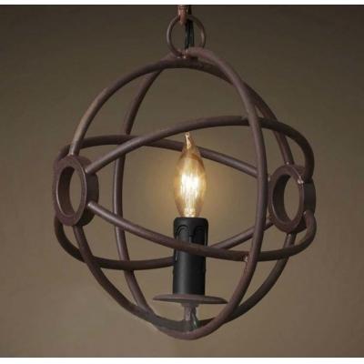 Baycheer / Antique Copper Ten Inches Wide Single Light LED Mini Globe Pendant