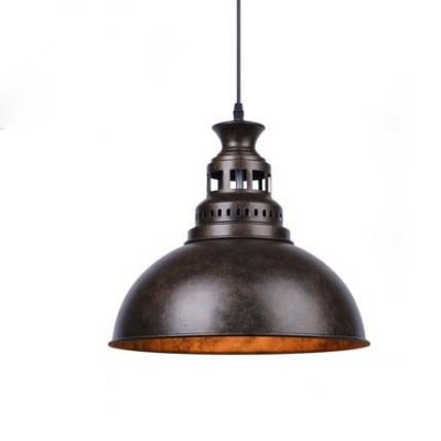 Nautical Style 1 Light Metal Bowl Shade Led Pendant Indoor Lighting