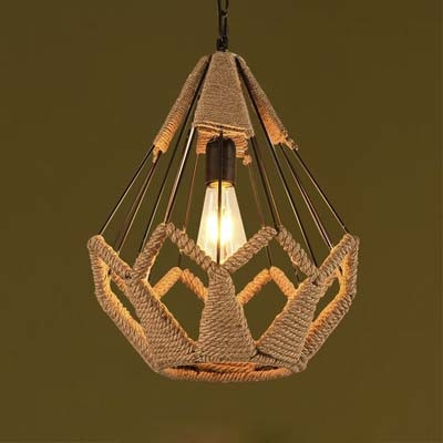 Exquisite Rope Cage Style Full Size Indoor LED Pendant Lighting Fixture ... & Exquisite Rope Cage Style Full Size Indoor LED Pendant Lighting ...