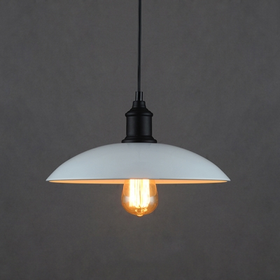 antique industrial pendant lights white. White Wrought Iron Retro Style 12.5\u201dWide Shade Industrial Pendant Lights Antique T
